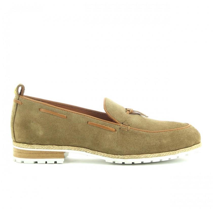Sapato Loafer Homem em Camurça Bege Sir Wolf
