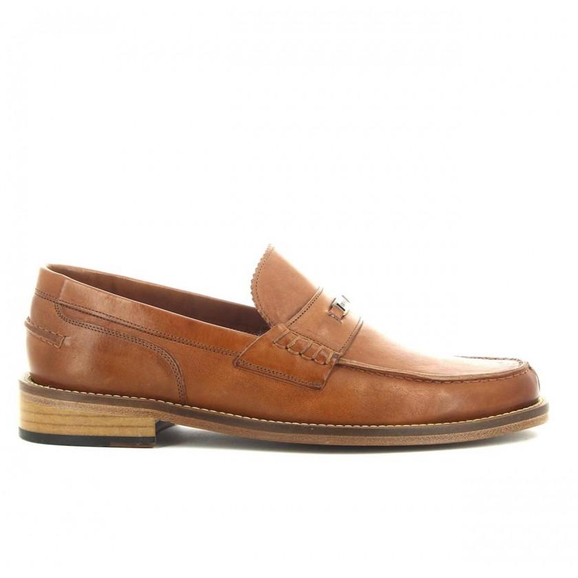 Sapatos Loafer Homem Camel...