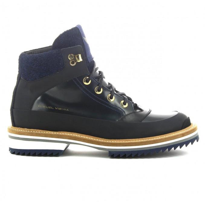 Botas homem preto / azul