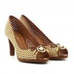 Sapato senhora ouro / camel