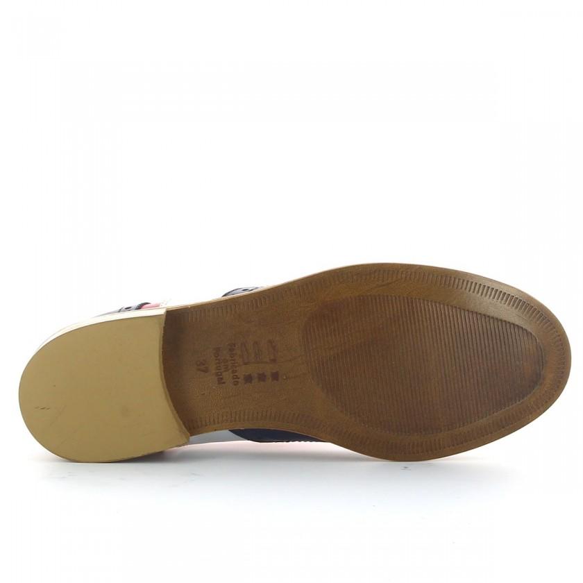 Sapato Marinheiro Oxford de Couro Feminino