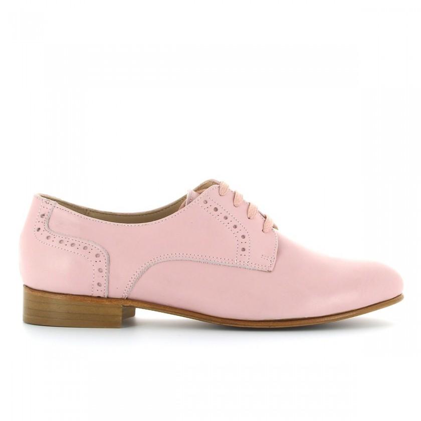 Sapato Rosa Derby Feminino