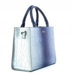 Mala senhora croco azul Rufel