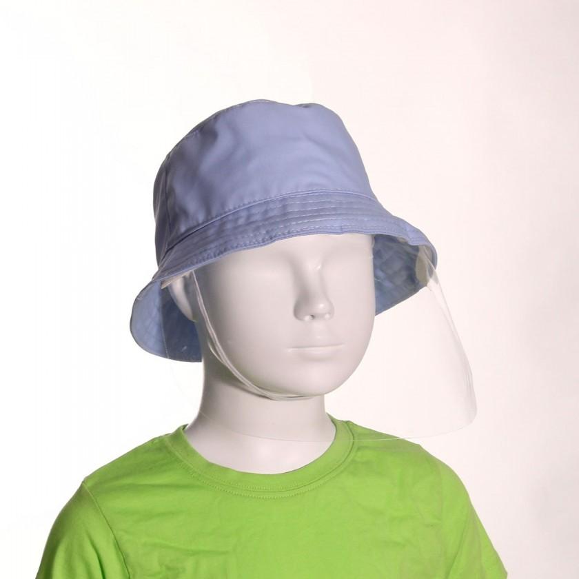Chapéu com Viseira Azul Claro