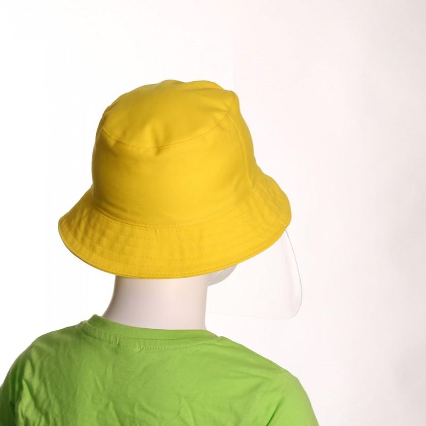 Chapéu de Criança com Viseira Amarelo