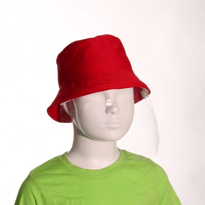 Chapéu de criança com viseira vermelho