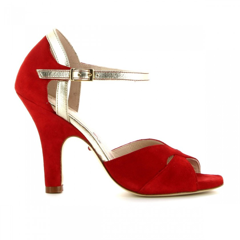Bruber Red Dance Lady Sandals