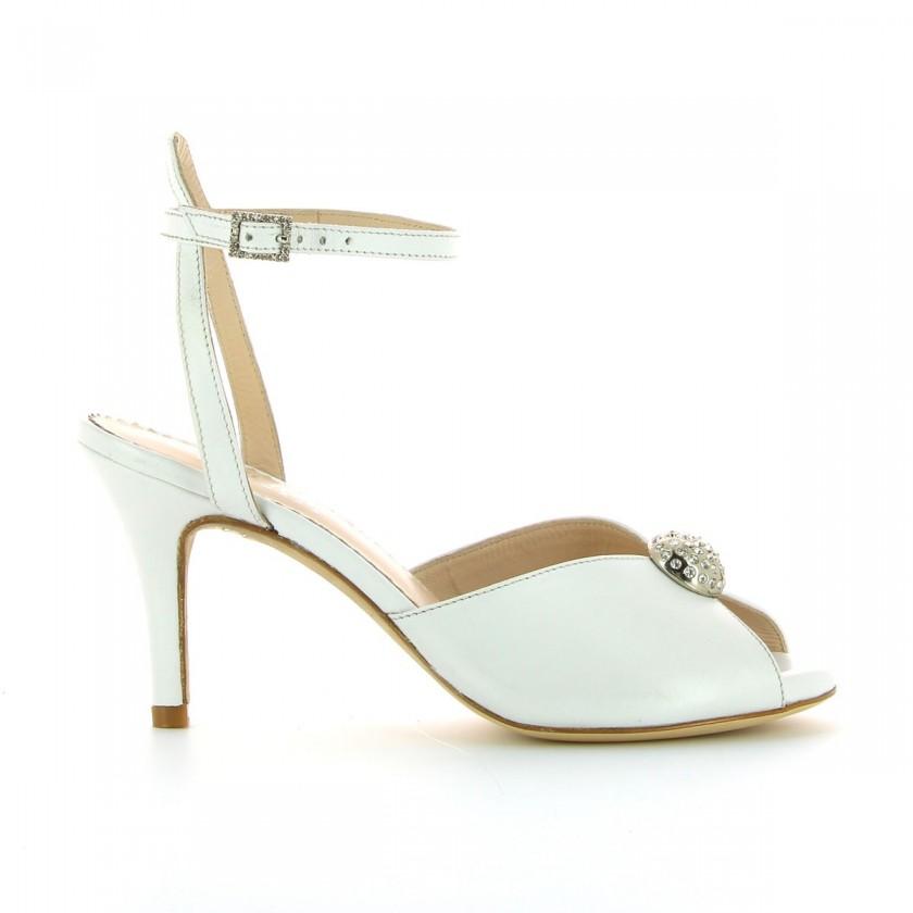 Sandálias de Casamento Brancas Bruber