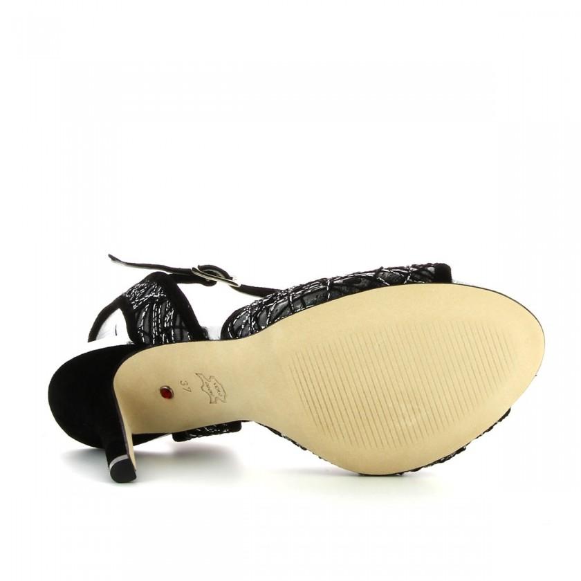 Women's Bruber Black Dance Sandals