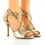 Sandálias Dança de Senhora Douradas Bruber