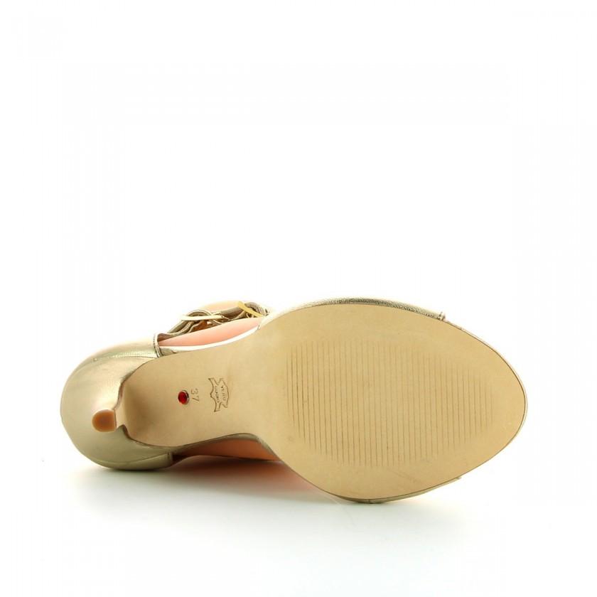 Bruber Women's Golden Dance Sandals