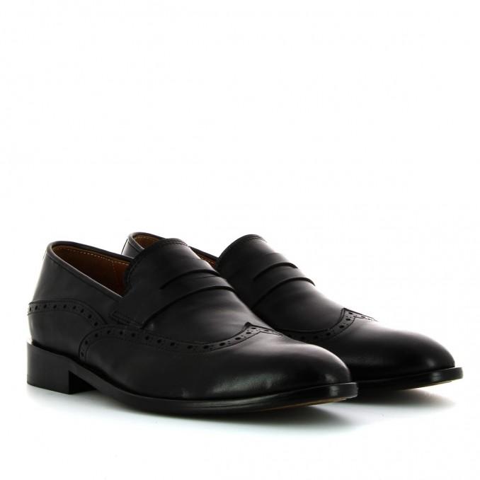 Sapatos pretos de pala homem Bruber
