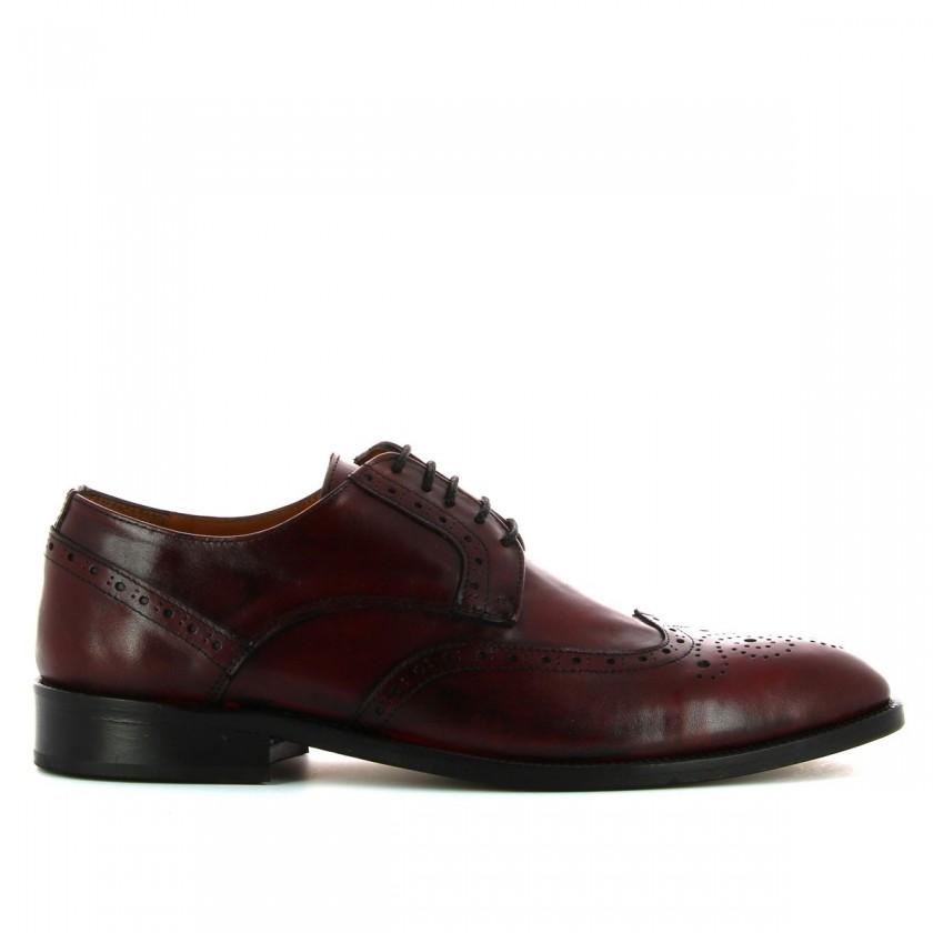 Sapatos Homem Bordô Pintados à Mão
