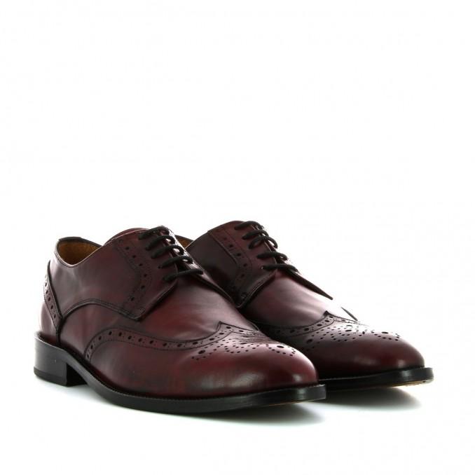 Sapatos  homem bordô pintados à mão Bruber