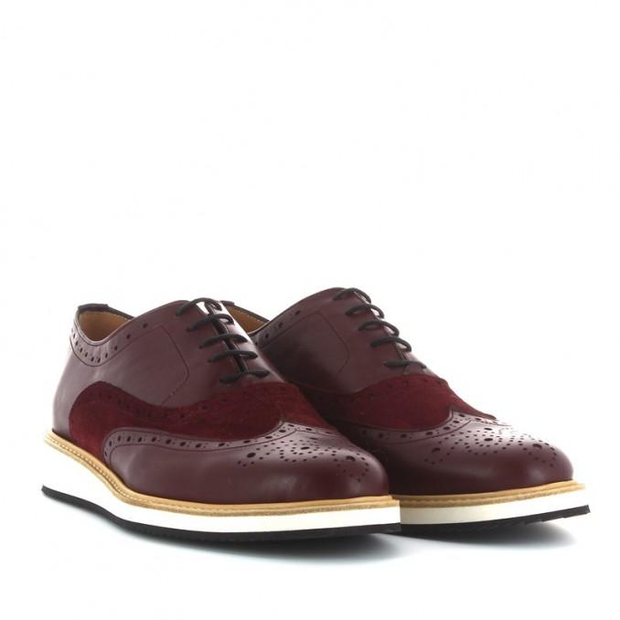 Sapatos oxford  homem bordô