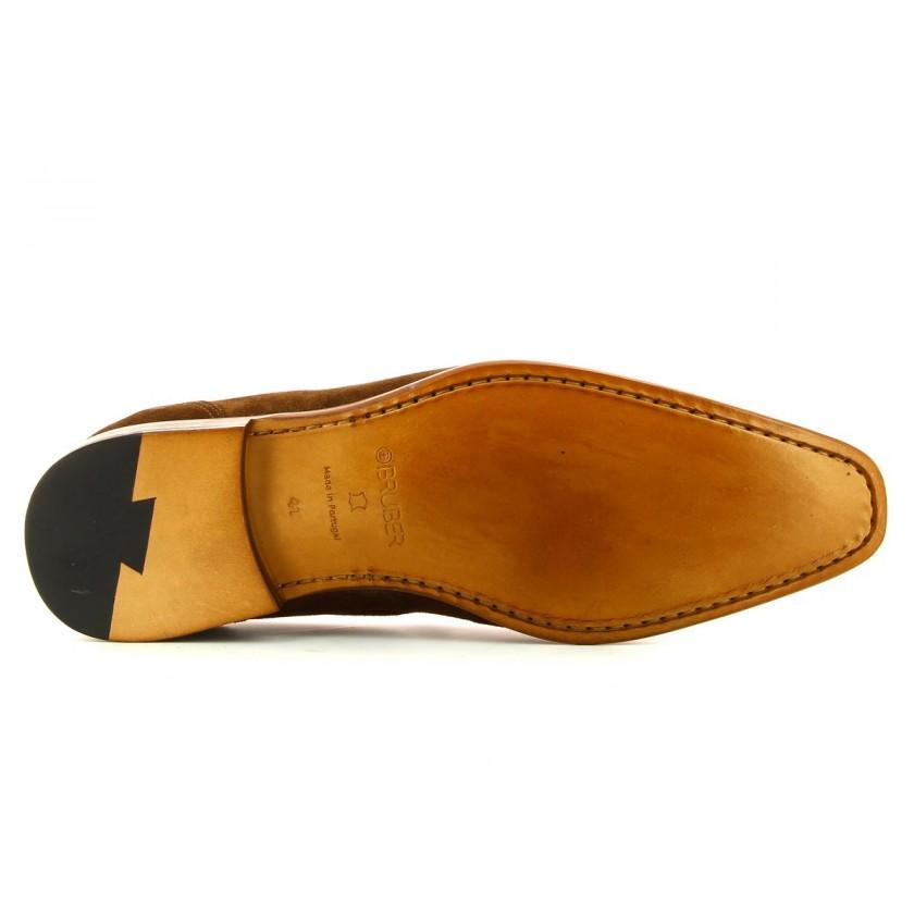 Sapatos Camurça Castanha para Homem