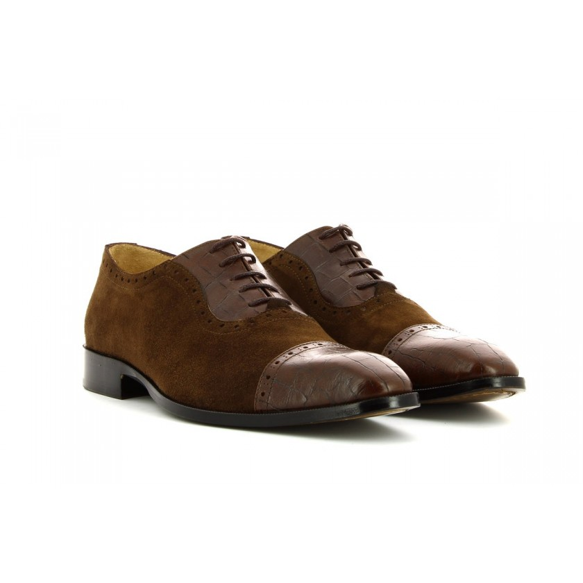 Sapatos Camurça Castanha Homem