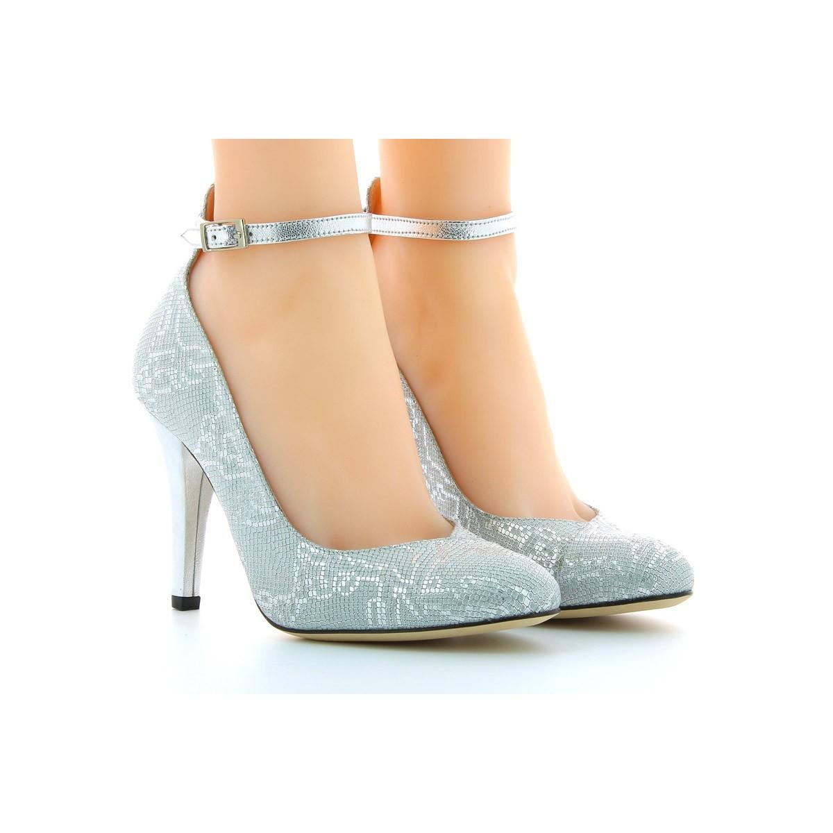 Sapatos de Dança Senhora Prateados Bruber