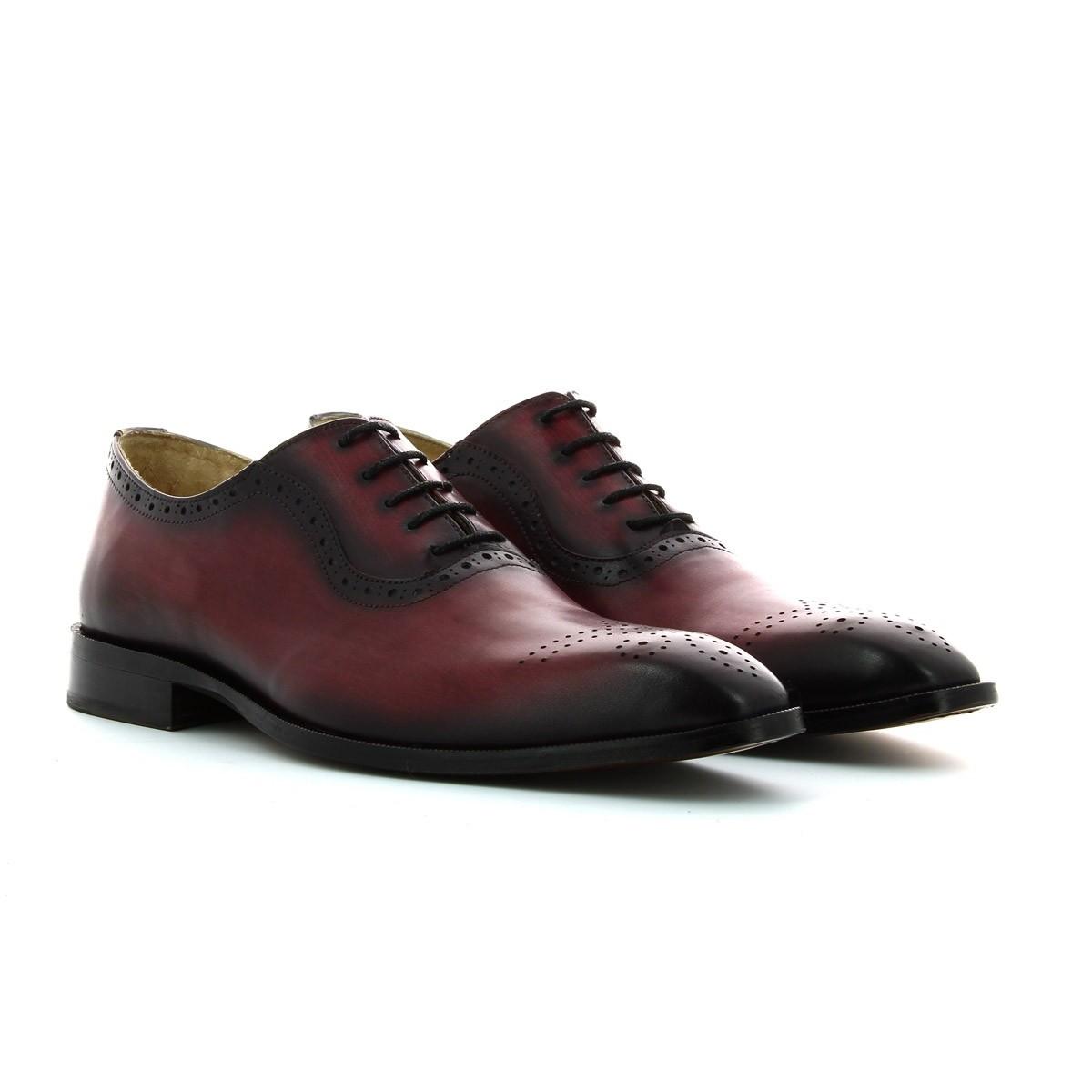 Sapato Bordô Homem Pintado à mão