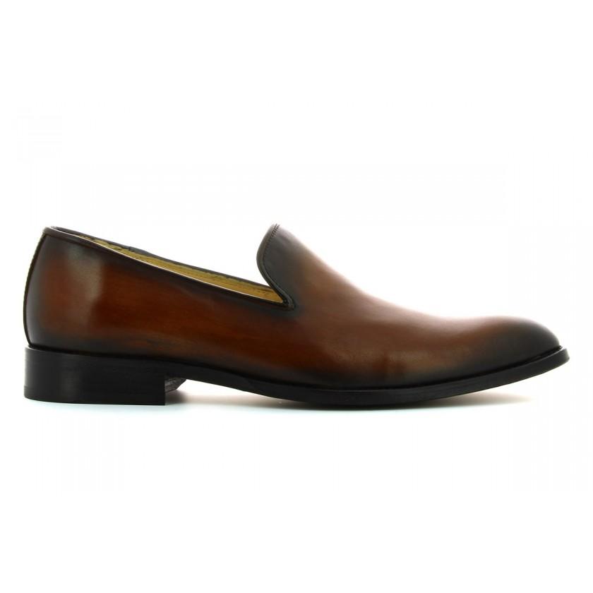 Sapatos Castanhos Homem Pintados à Mão
