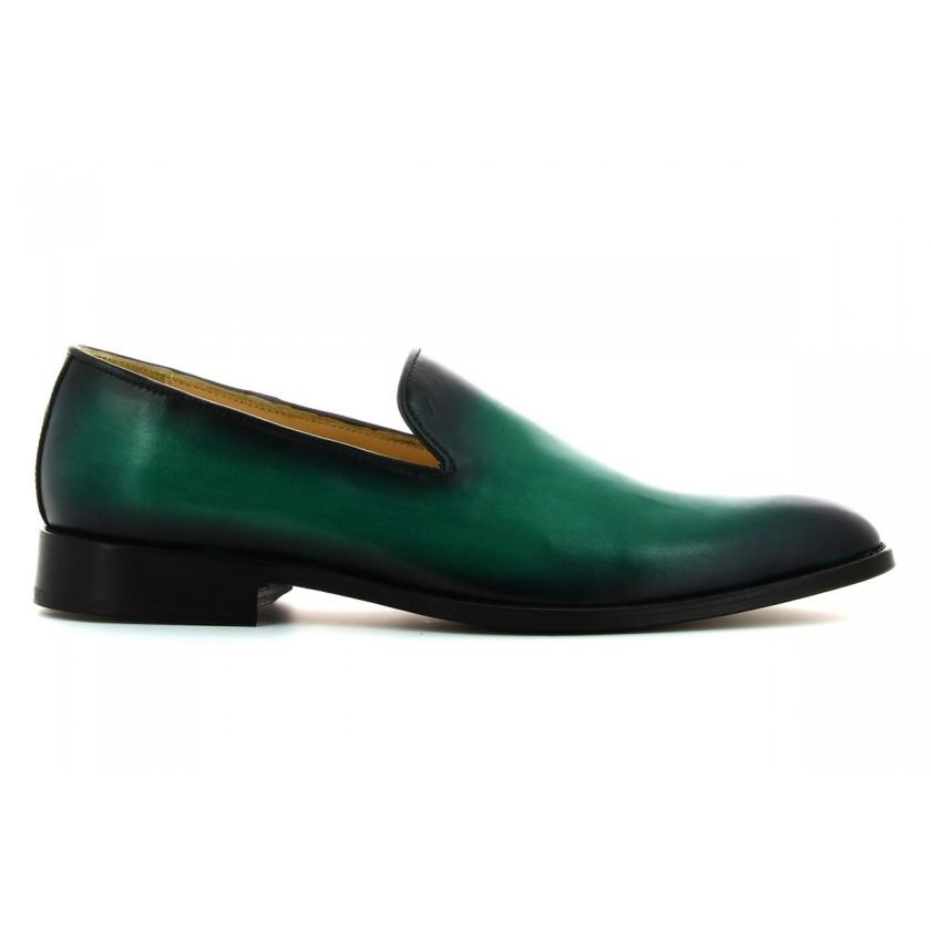 Sapatos Verdes Homem Pintados à Mão