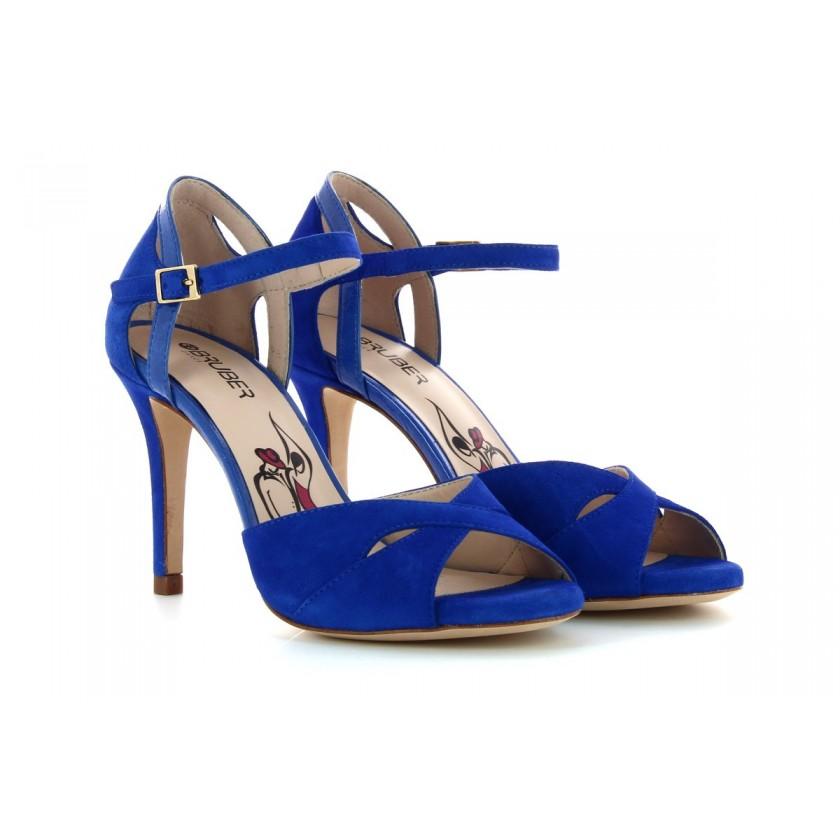 Sandálias Camurça Azul Senhora