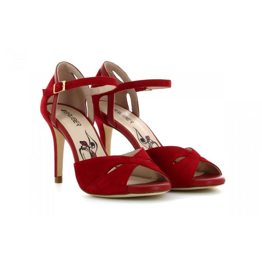 Sandálias Camurça Vermelha...