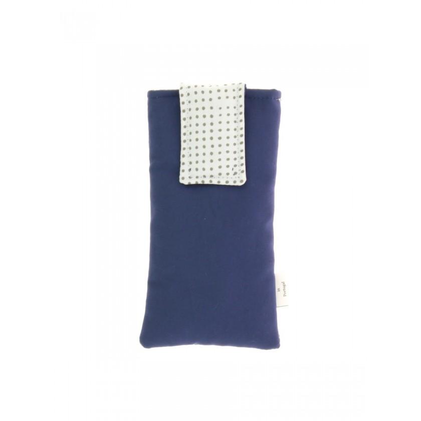Bolsa telemóvel de por à cintura azul com branco