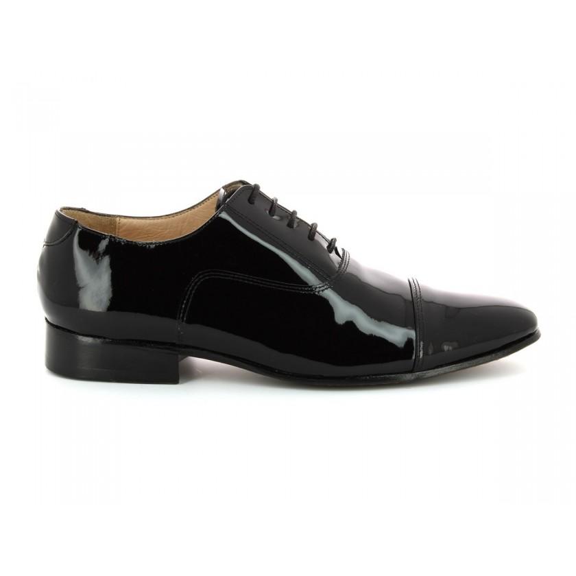 Chaussures vernis noires pour hommes