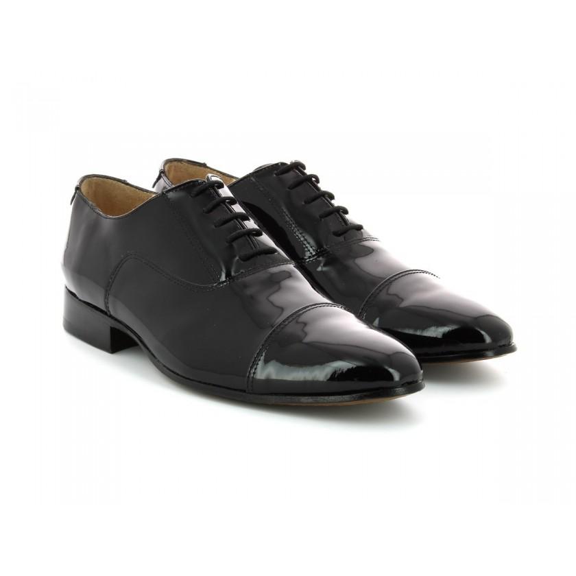 Sapatos Verniz Preto Homem