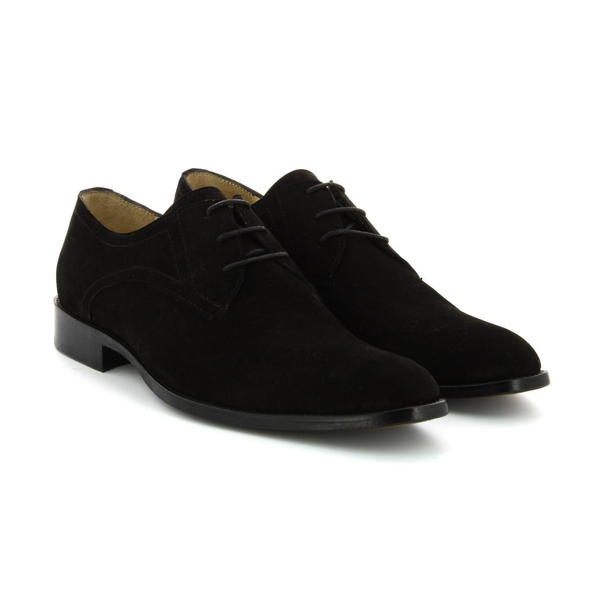 Sapatos Camurça Preta Homem