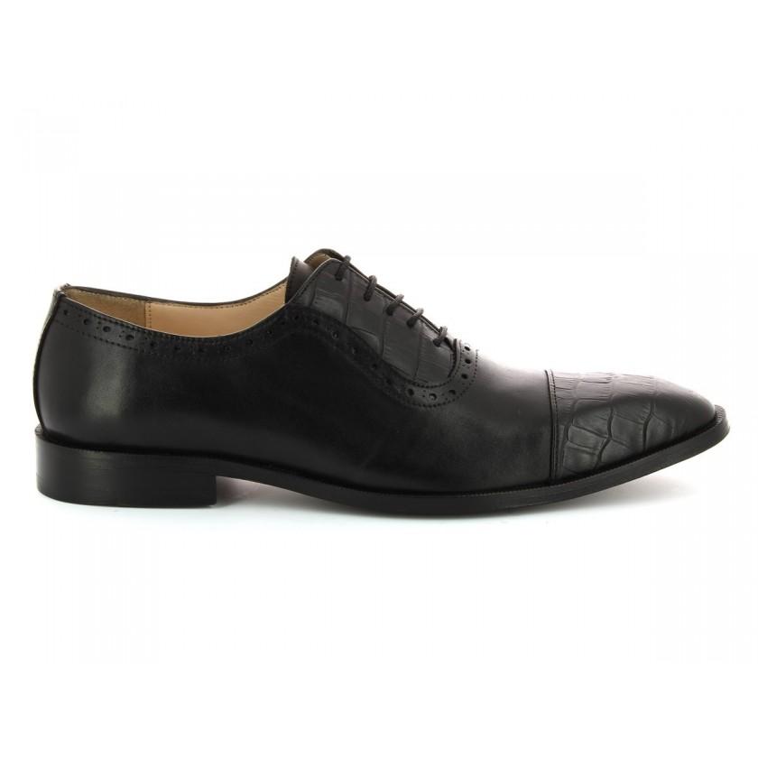 Sapatos Croco Preto Homem