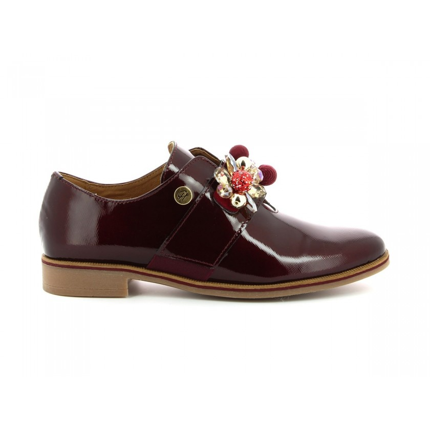 Sapatos Verniz Bordô Senhora