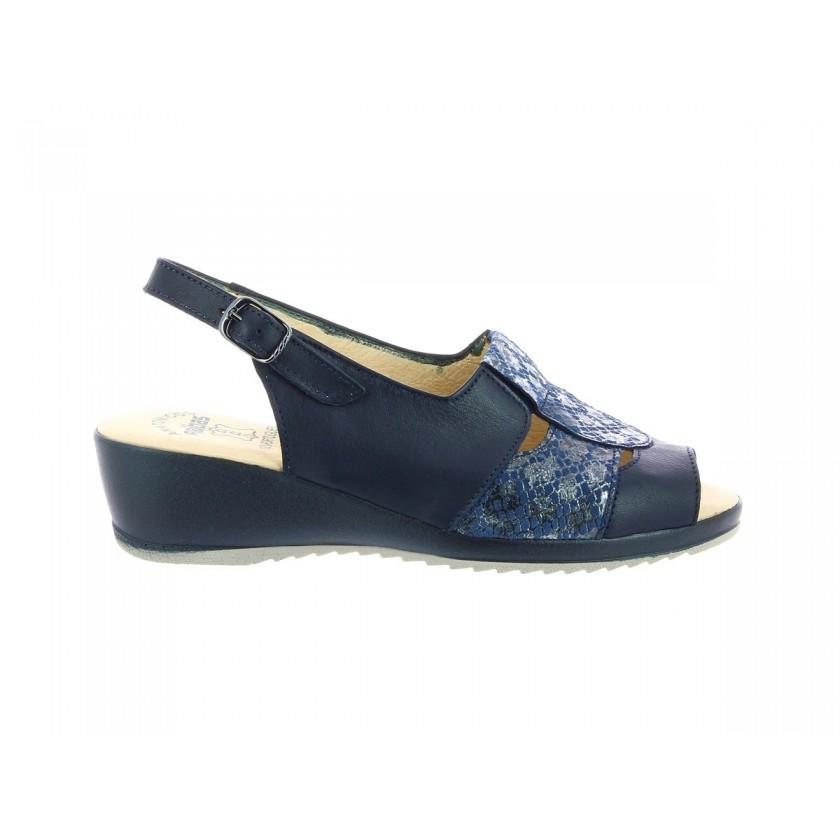 Sandales bleu de femmes