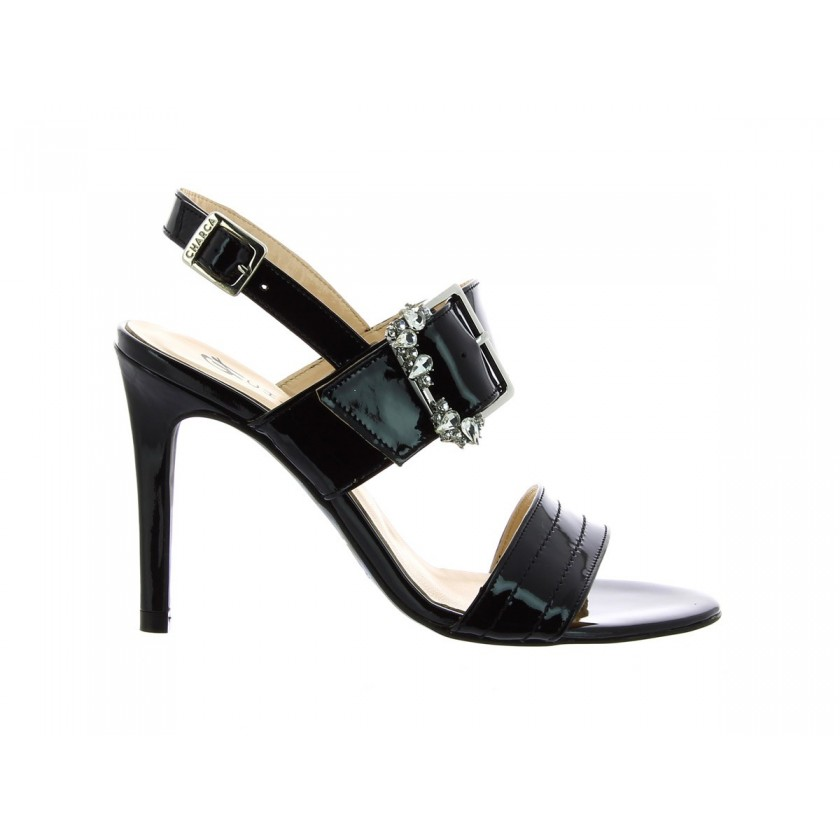 Sandálias Verniz Pretas Senhora