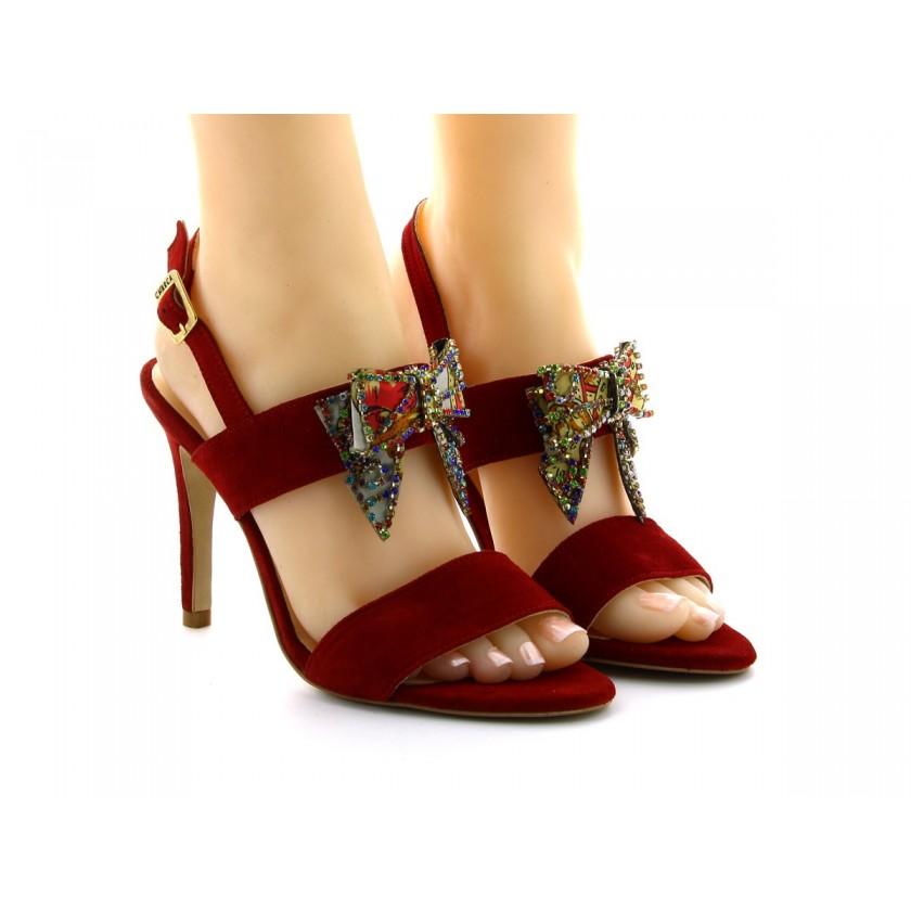 Sandálias Vermelhas Camurça...