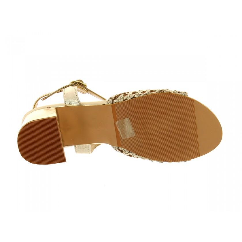 Sandália Dourada Senhora