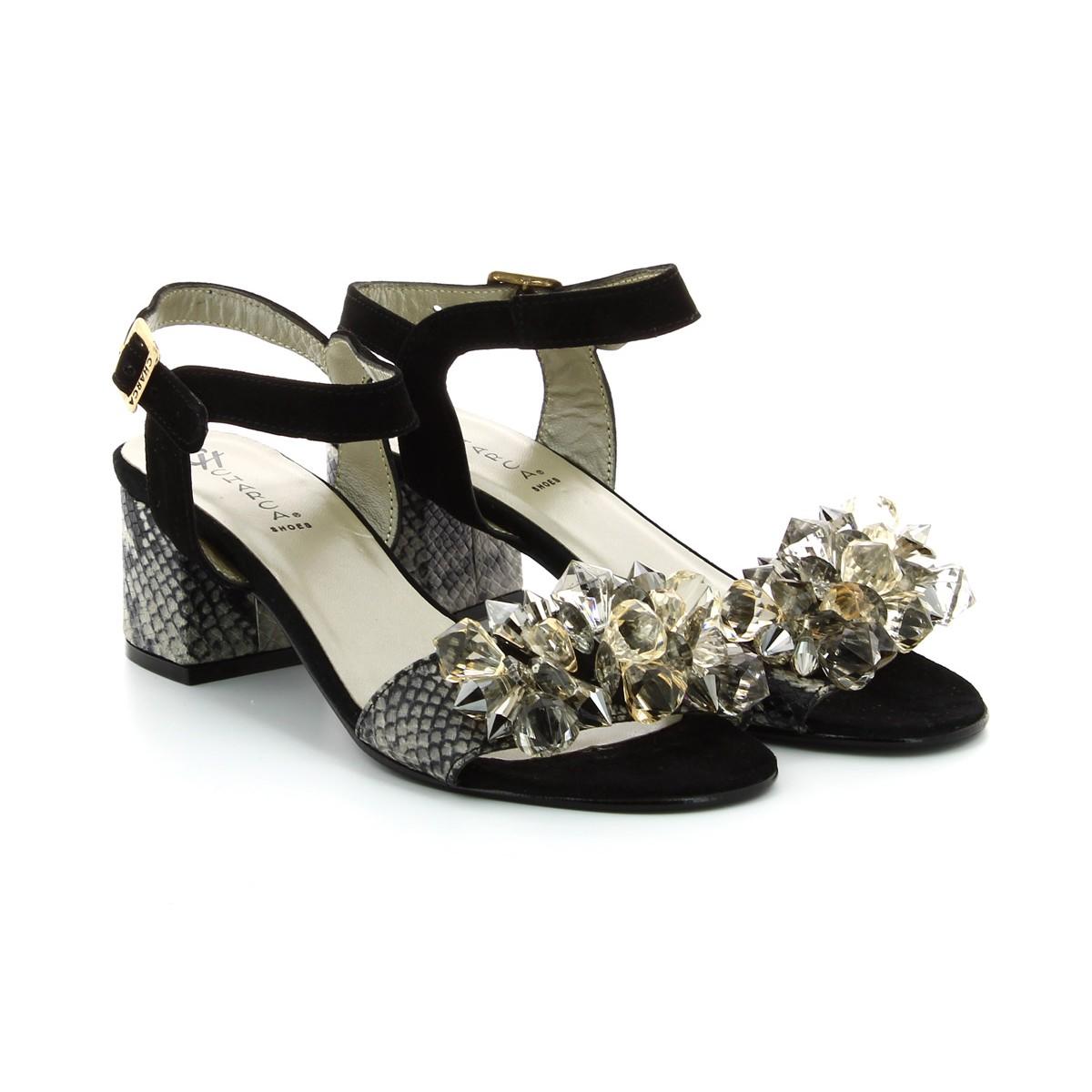 Sandálias Camurça Preta Senhora