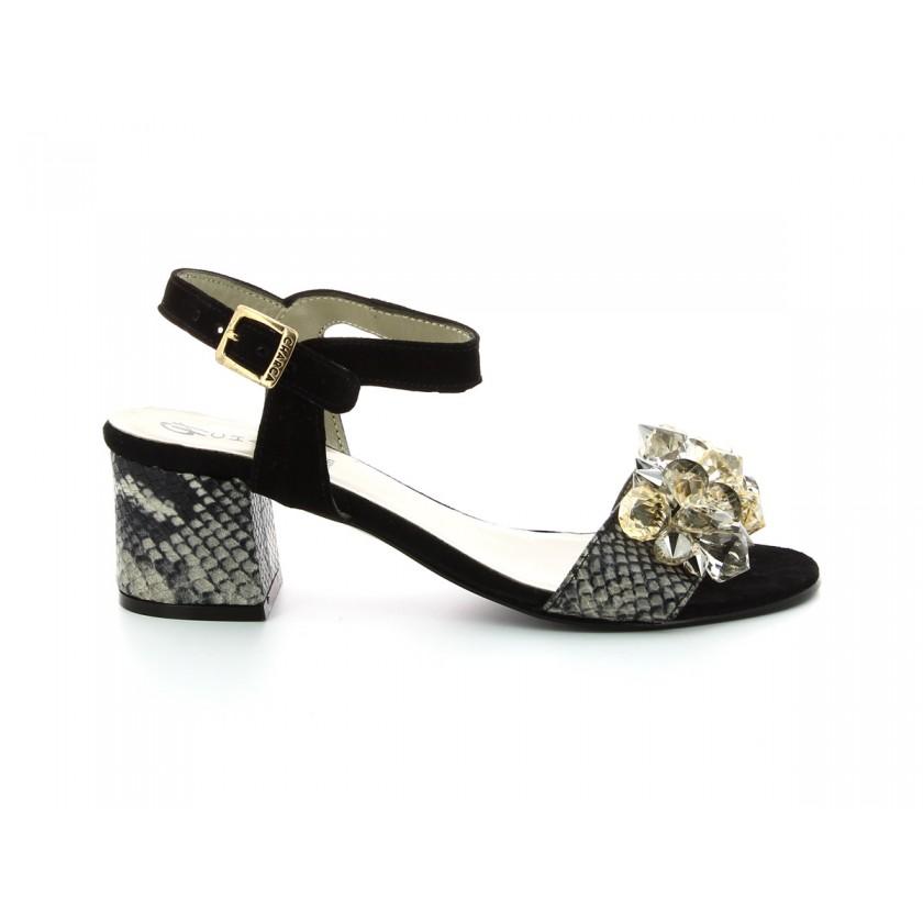 Sandales en suéde noires pour femmes