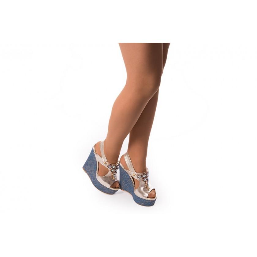 Sandálias Senhora Champagne / Ganga