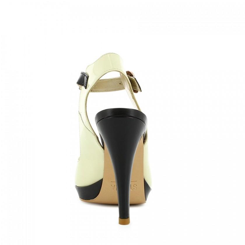 Sapatos Senhora Bege / Preto