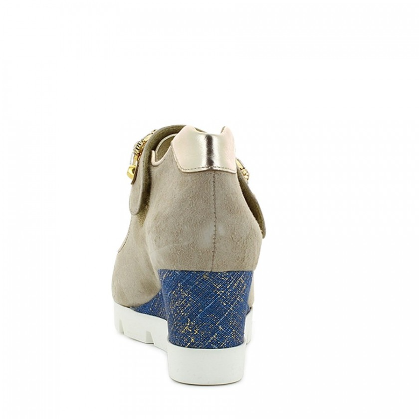 Sapatos Senhora Bege / Ouro