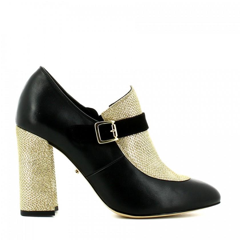 Sapato Senhora Preto / Ouro