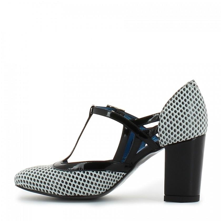 Sapato Senhora Branco/Preto