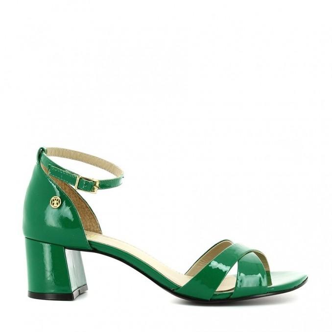 Sandálias Senhora Verniz Verde