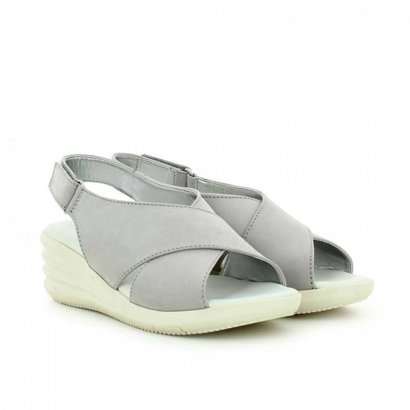Sandálias Senhora Cinza