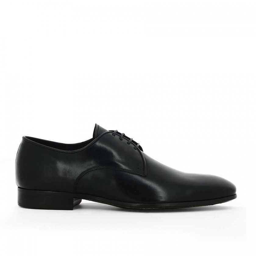Sapatos Preto Polido Homem...