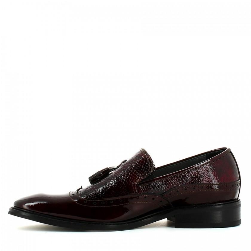 Sapato Homem Verniz Bordô