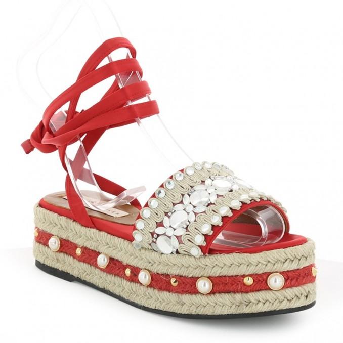 Sandalias Senhora Vermelhas