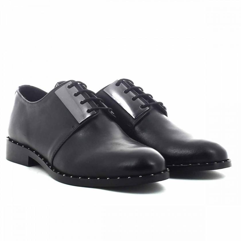 Sapatos Senhora Pretos com Atacadores